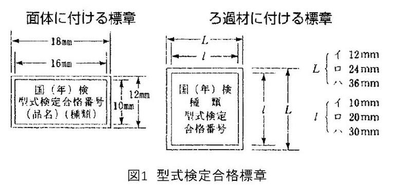 図1 型式検定合格標章